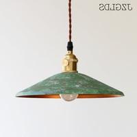 Loft American Iron Vintage Small Copper Umbrella Lamps Pendant Light Single Crystal Glass Pendant Light deco maison