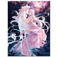 unicorn fairy diamond painting 5d cross stitch full square round drill diy diamond mosaic cartoon diamond embroidery