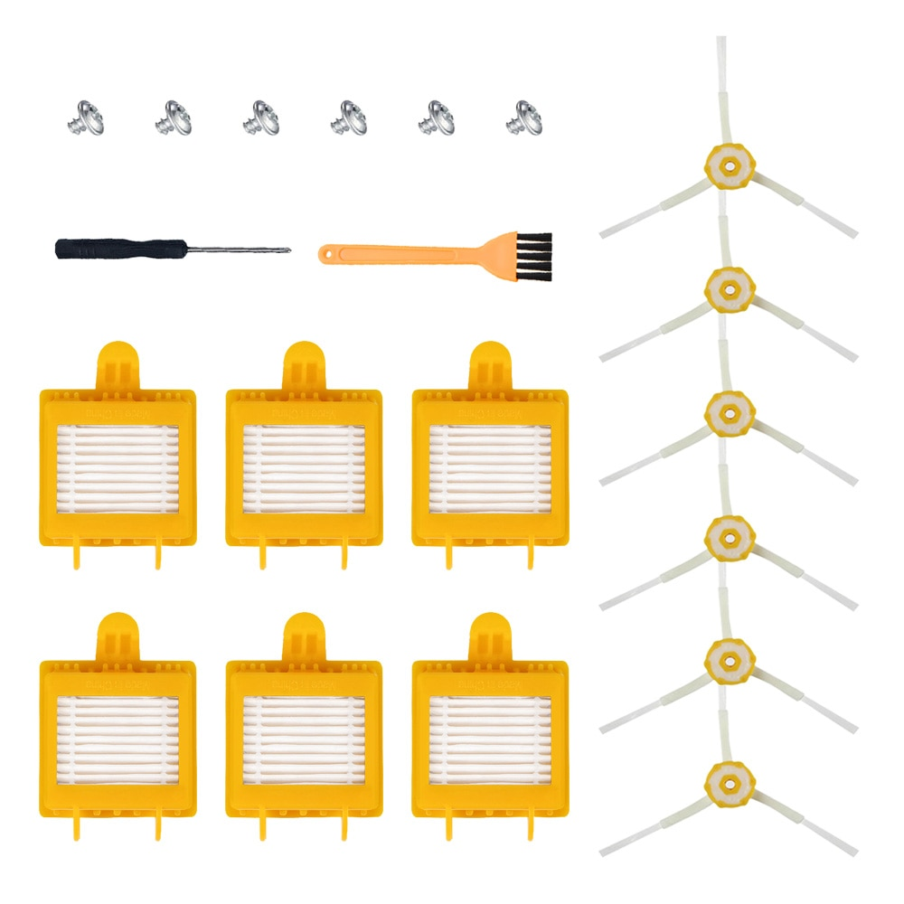 Kit de reemplazo de filtros de cepillo para iRobot Roomba 700 Series 760, 770, 772, 774, 775, 776, 780, 782, 785, 786, 790 piezas de limpiador de vacío de
