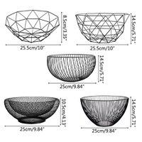 Металлические для хранения фруктов и овощей для кухонные чаши яйца держатель корзин Nordic Минимализм