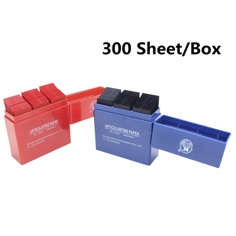 Red/Blue 300 Sheet / Box Dental Articulating Paper Strips Dental Lab Products Tool Oral Teeth Care Whitening Material 55*18mm