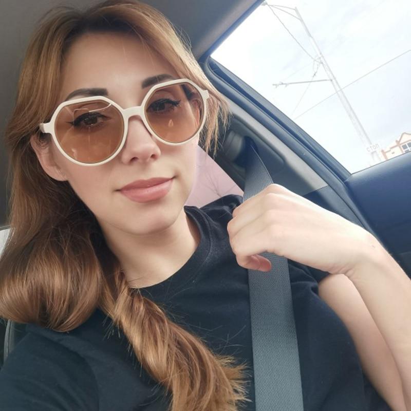 Fashion White Sunglasses Women Square Frame Glasses Vintage Small Eyeglasses Classic Coated Cutting