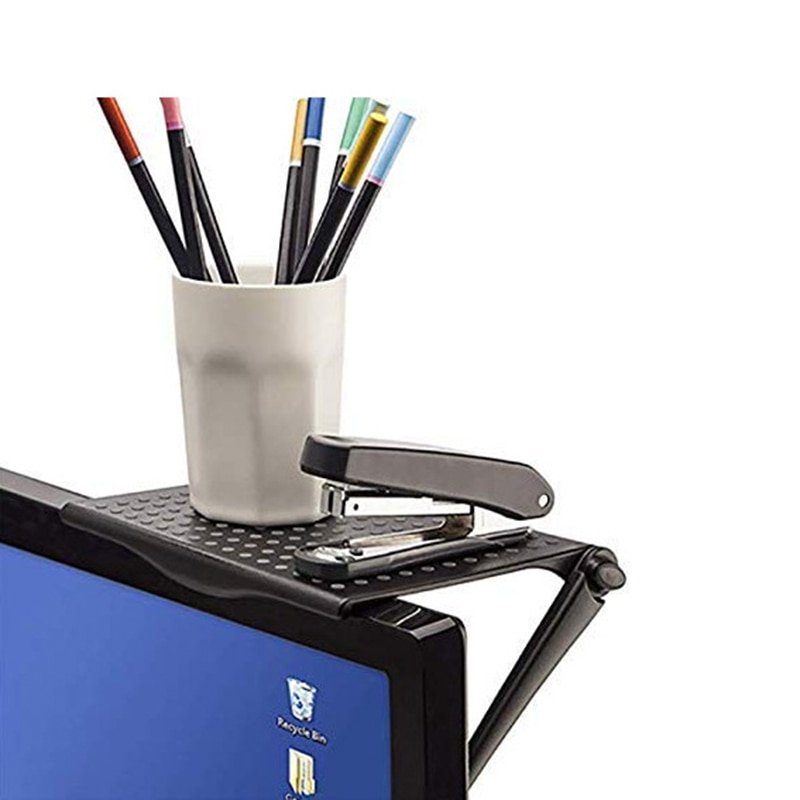 1PC Multi-Function Adjustable Durable TV Screen Caddy Screen Top Shelf Storage Desktop Storage Rack Save Space Organize Tools
