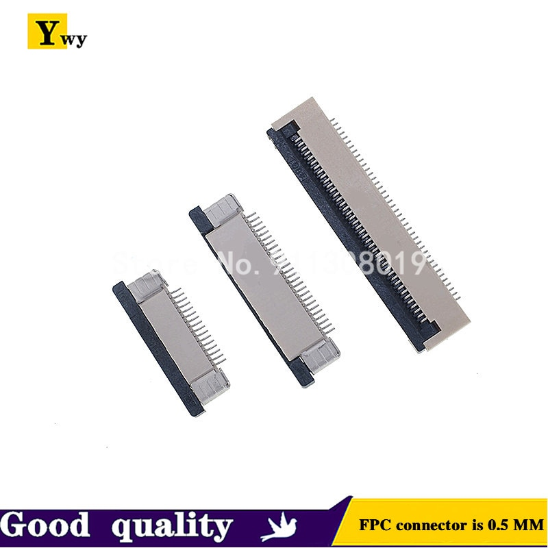 10pcs/lot FPC connector 0.5MM 40P flip top and bottom 4p/5p/6p/8p/10P/12p/14p/16/20p/24P/26P/28P/30P/45P/50P/54P