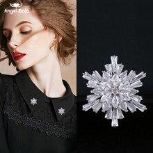 Nouvelle marque Design cadeau de noël cristal flocon de neige collier broche boucle Zircon broches broches mode femmes bijoux bijoux