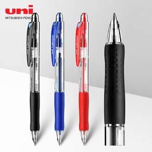 6pcs Japan UIN classic ball pen bullet point SN-100 push-type ballpoint pen 0.5MM student signature pen
