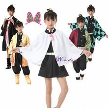 Disfraz de Anime de Demon Slayer para niñas, disfraz de Cosplay de Tsuyuri Kanawo, Kimetsu no Yaiba, Tanjirou, Kamado, Nezuko, uniforme Kisatsutai