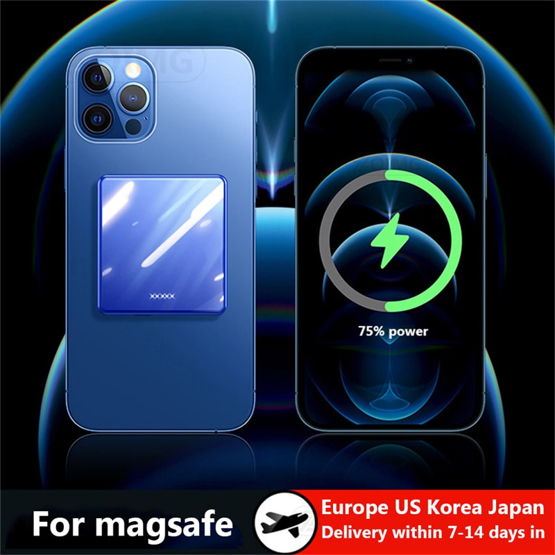10000mAh Wireless Magnetic Power Bank For Magsafe powerbank Fast Charger For iphone12 xiaomi Samsung External charging Battery