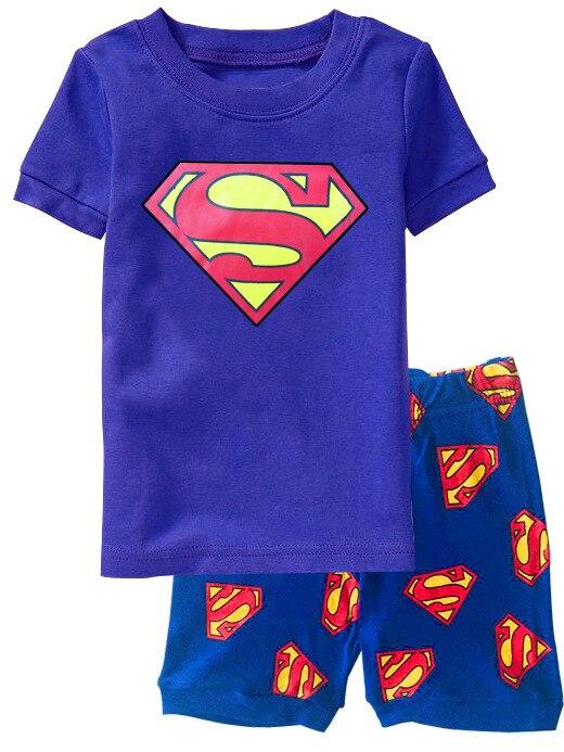 Conjuntos de pijamas de verano para niños mono de manga corta ropa de dormir para niños 100% de algodón ropa interior para niños pijama trajes de dormir