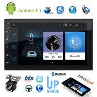 Автомагнитола 2 Din с экраном Android, универсальная мультимедийная стереосистема с Bluetooth и Центральным управлением, GPS-навигацией, MP5, USB, Wi-Fi