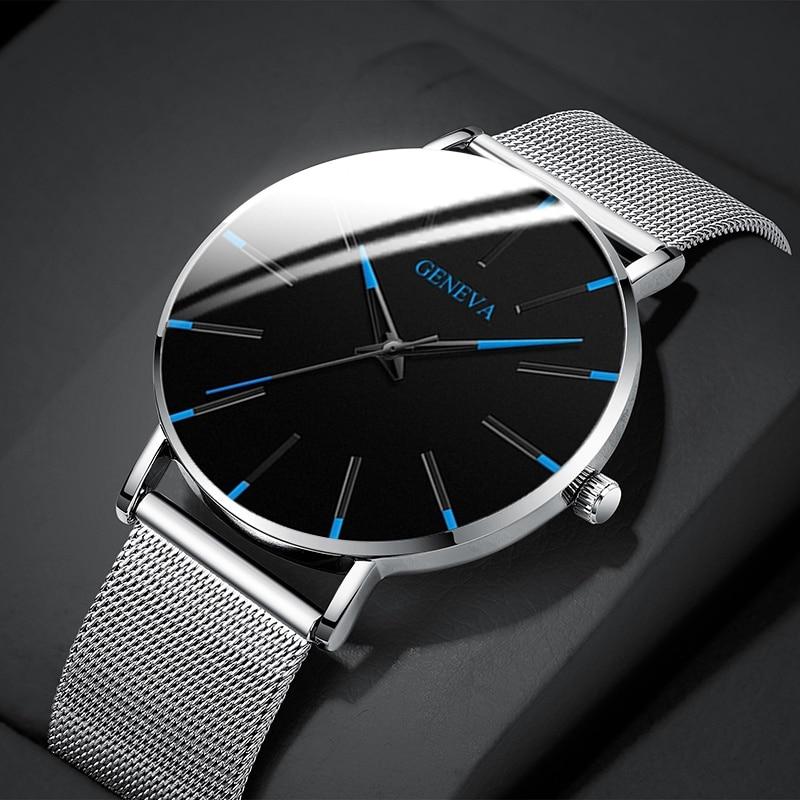 Relógio de Pulso de Aço Clássico de Quartzo para o Homem Inoxidável Presentes