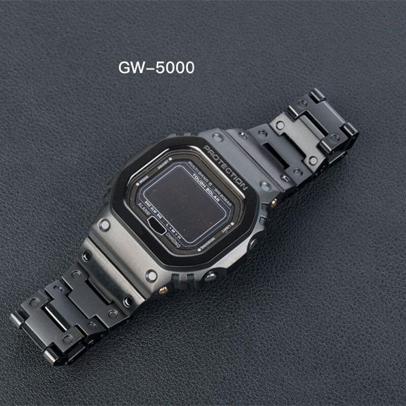5600 pulseira de metal aço inoxidável GW-M5610 pulseira dw 5600 GW-5000 DW-5030 G-5600 relógio banda quadro caso cinto ferramentas