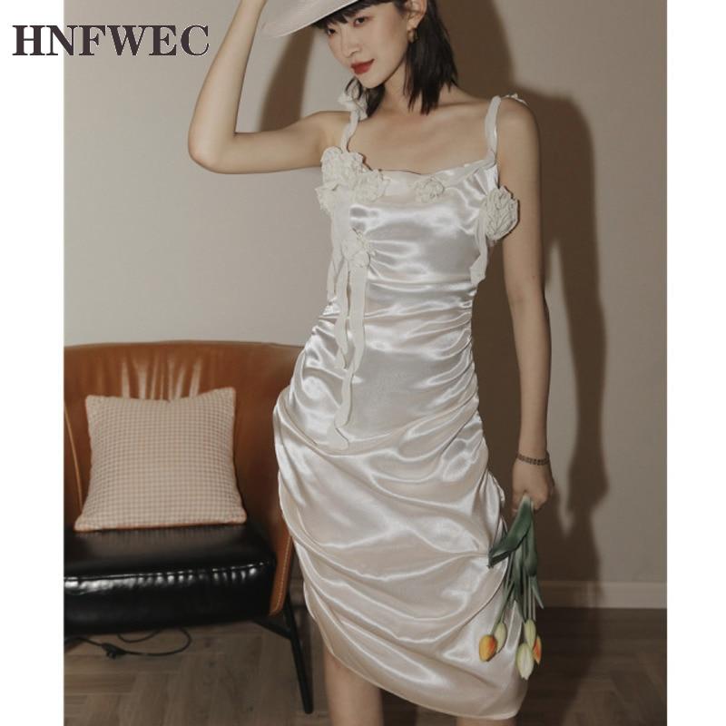 Vestido ceñido al cuerpo de satén para Rosas con pliegues en T, vestido de verano para mujer, vestido ajustado de color champán con purpurina, vestido elegante U150