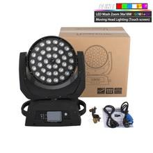 LED Lumière Principale Mobile De Lavage LED Zoom Lavage 36x18W RGBWA + UV Couleur DMX Têtes Mobiles Lavage Écran Tactile Pour DJ Disco Discothèque