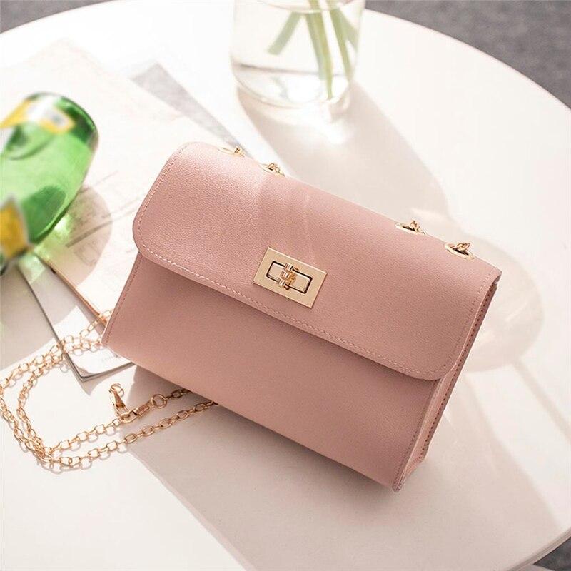 British Fashion Simple Small Square Bag Womens Designer Handbag 2020 High-quality PU Leather Chain Mobile Phone Shoulder bags