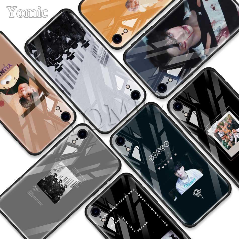 ATEEZ HongJoong SeongHWA de vidrio templado funda para iPhone de Apple XR 7 7 6 6S Plus 11 Pro X XS X MAX borde suave funda del bolso del teléfono móvil