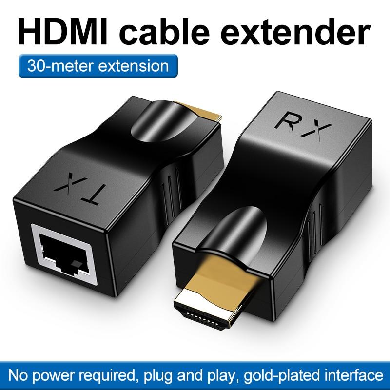 4k 2 pces 1080p hdmi extensor compatível sobre rj45 red lan ethernet...