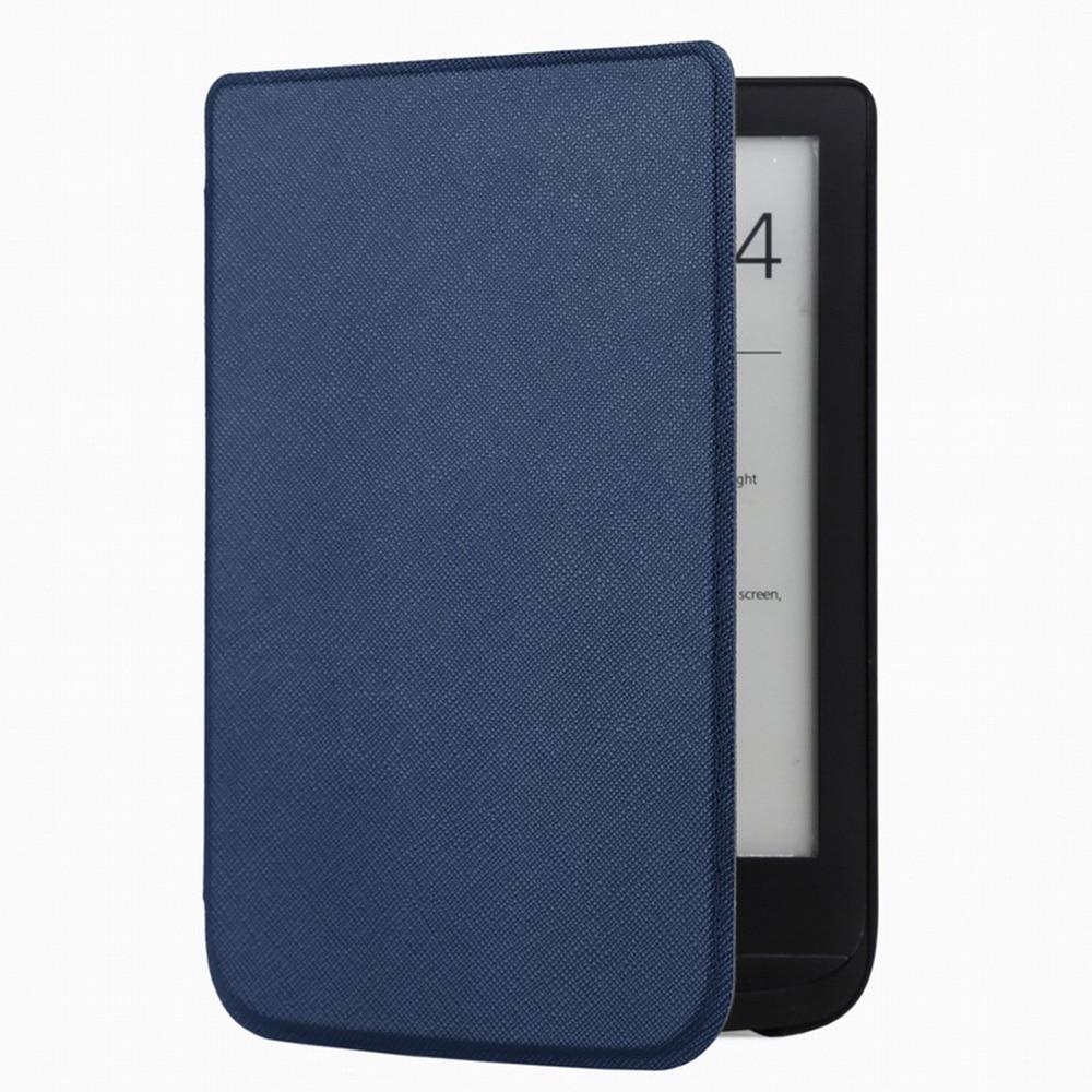 Funda de cuero delgada para Pocketbook 632 Touch Lux 4 627 HD3 632 Basic2 616 Ereader + película de pantalla