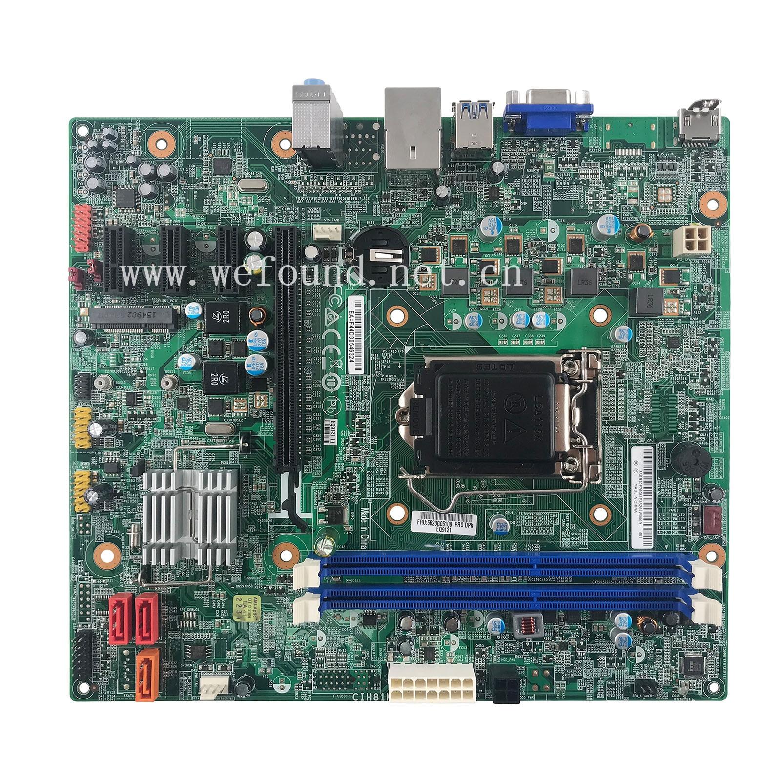 100% de trabalho Motherboard do servidor para 5B20G05108 H3050 D5050 G5050 H530S H81H3-LM CIH81M Totalmente Testado
