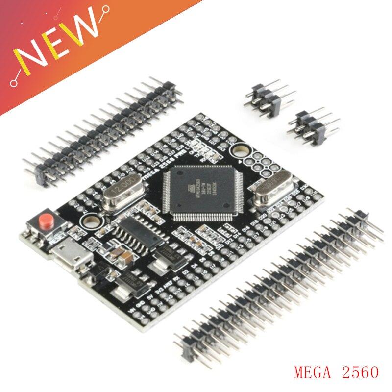 Микро-usb MEGA 2560 PRO встроенный CH340G/ATMEGA2560-16AU чип с штыревыми разъемами совместим с arduino Mega2560 DIY