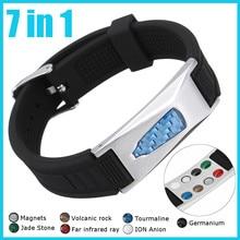 7 in 1 Titanium Magnetic Energy Armband Power Bio Bracelet Health Pain Relief Magnet Health Bracelet New