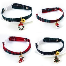 Christmas Holiday Cat Collar Adjustable Neck Strap Puppy Kitten Chihuahua Collars with Pendant Pets