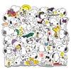 50 Uds pegatinas de dibujos animados Snoopy para Laptop Skateboard Calcomanía para equipajes electrodomésticos de juguete de oficina Netbook pegatinas impermeables