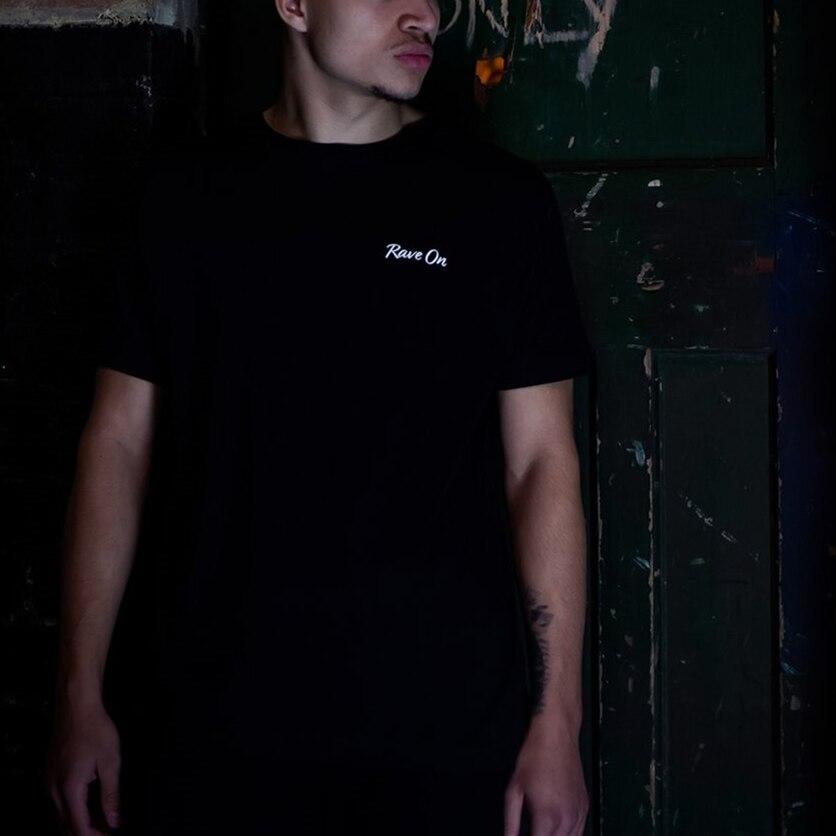 Светоотражающая футболка унисекс, Мужская Светоотражающая футболка, Модная хлопковая футболка
