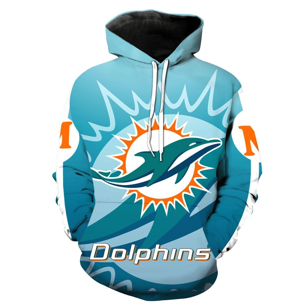 Miami dolphin football team printed cap pocket cover men's fashion men's hat men's clothing Sweatshirts