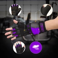 gym equipment dumbbell training gloves women men weightlifting anti slip half finger horizontal bar gymnastics workout gloves