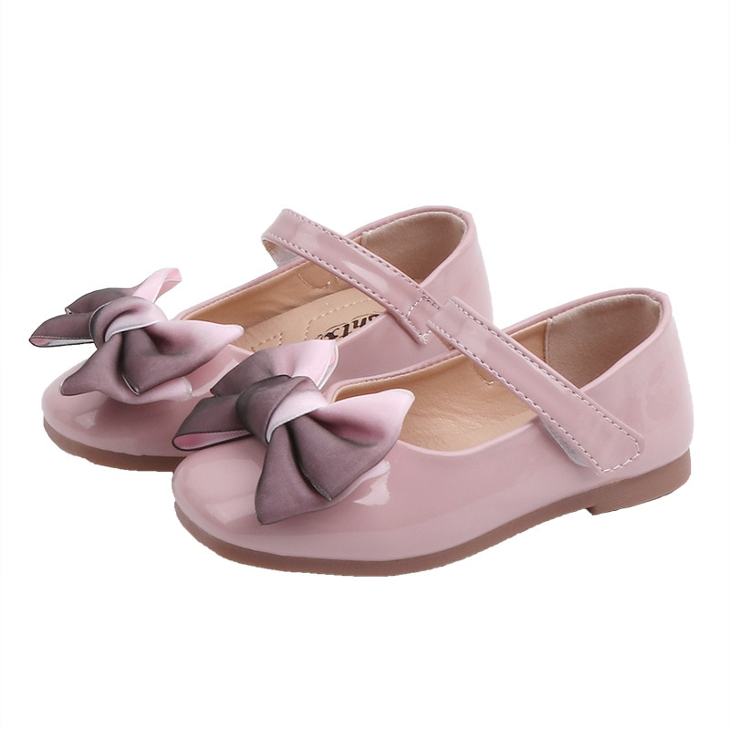 2020New Baby girls shoes Kids little girls princess shoes Bow Single shoes For cocktail party red Pink Black Beige 18M 24M 3-15T