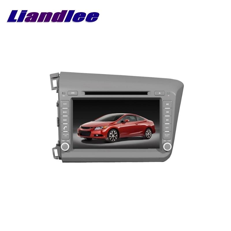 Liandlee For Honda Civic Left Hand Drive 2012~2017 LiisLee Car Multimedia TV DVD GPS Audio Hi-Fi Radio Original Style Navigation