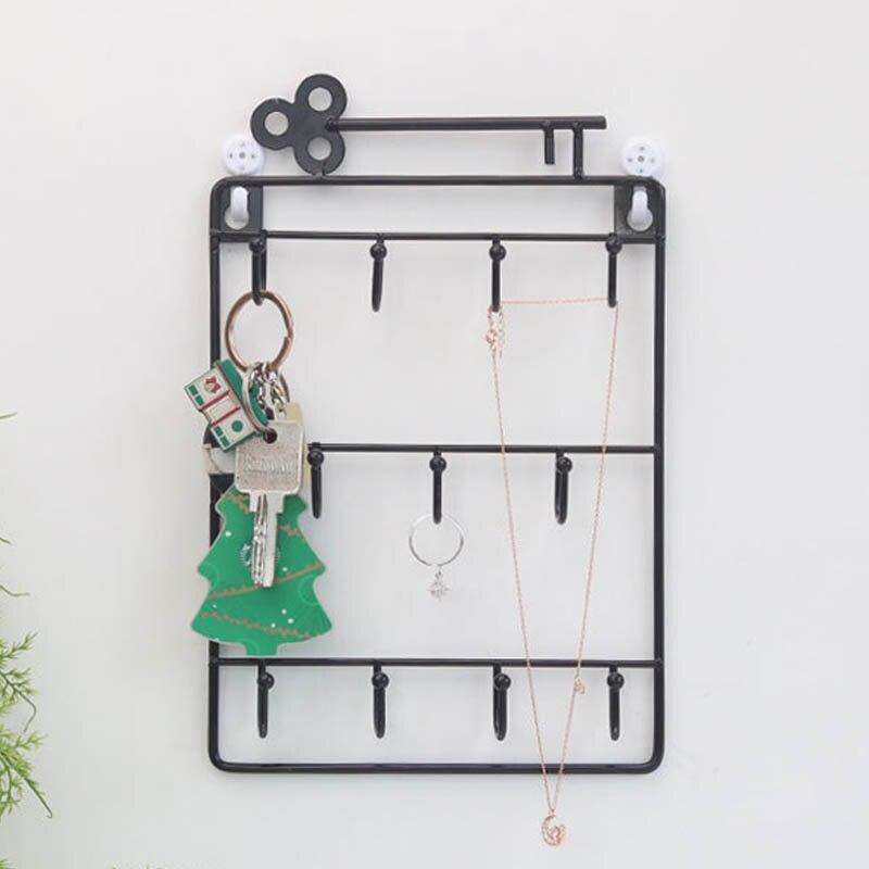 1 pçs durável ganchos decorativos para chaves guarda-chuva pequeno sundries armazenamento titular casa pendurado gancho chave de parede casa rack