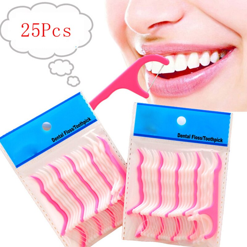 25 Pcs Lot Disposable Dental Flosser Interdental Brush Teeth Stick Toothpicks Floss Pick Oral Gum Teeth Cleaning Care Dental Flosser Aliexpress