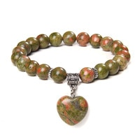 Женские браслеты с бусинами из натурального камня, 8 мм