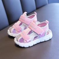 2020 girls summer sandals fashion high quality kids princess shoe children soft sole korean style little girl shoes