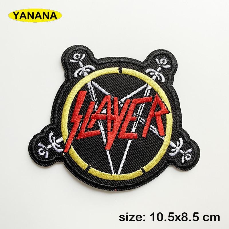 Наклейки для одежды «Slayer», наклейки «сделай сам» в полоску с надписью, стикеры для одежды, аксессуары для одежды