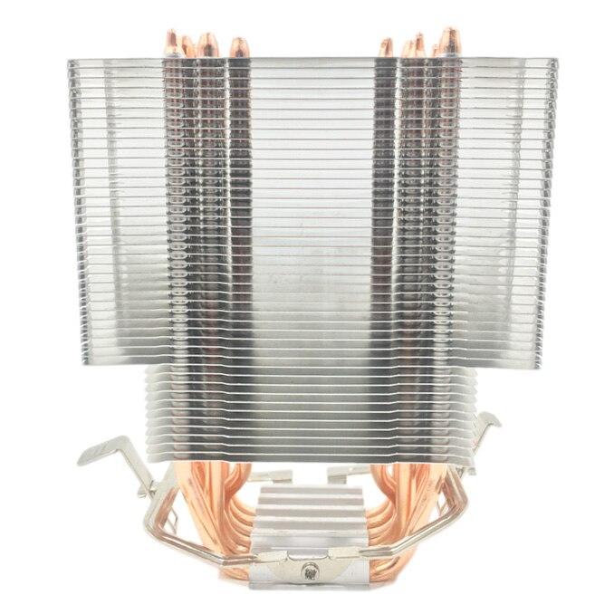بدون مروحة وحدة المعالجة المركزية برودة 12 سنتيمتر مروحة 6 Heatpipes النحاس بدون مروحة التبريد المبرد ل LGA 1150/1151/1155/1156/1366/775/2011 AMD