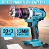 3-In-1 전기 충격 드릴 해머 드릴 전기 스크루 드라이버 Rechargable 13mm 2 속도 25-90Nm Makita 배터리 18V