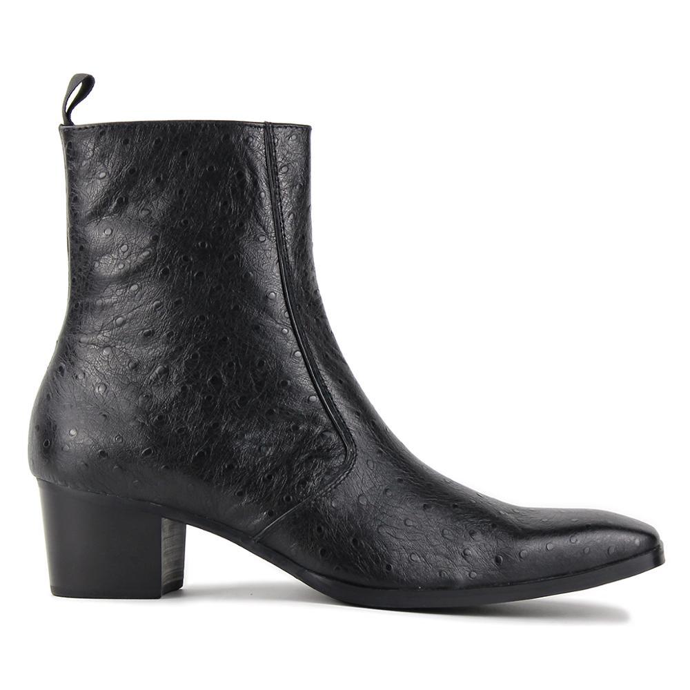 أحذية جلدية أصلية للرجال مصنوعة يدويًا ، أحذية مصممة من تشيلسي مع سحاب ، 2020