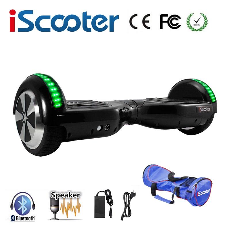 Hoverboard6.5 pulgadas, Scooter eléctrico de dos ruedas, autobalance, aeropatín eléctrico, hoverboard con LED
