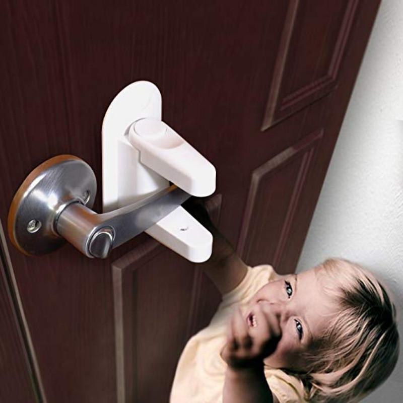 Cerradura De palanca De puerta a prueba De niños, Candados De Seguridad...