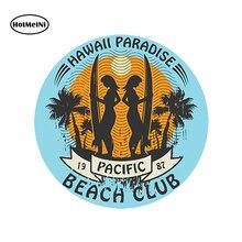HotMeiNi Car Styling Car Sticker Hawaii Surf Vinyl Sticker Laptop Travel Luggage Waterproof Accessories 13x13cm