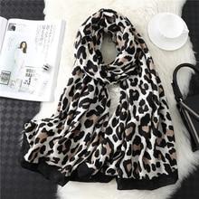 2020 marque de créateurs femmes écharpe imprimé léopard coton grande taille pashmina dame châles hiver chaud motif animal foulard hijabs