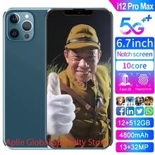 2021 Hot Sale I12 Pro Max Global Version Smartphone 12GB 512GB Android 10 Unlocked 6800mAh Snapdrago