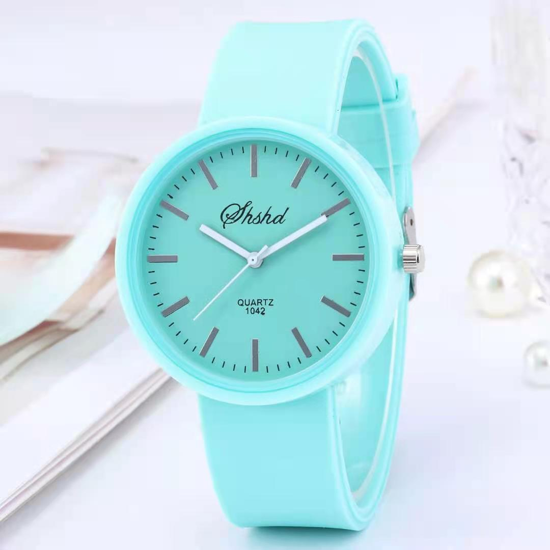 2021 New simple silicone Brand WOKAI Casual Quartz Watch Women Crystal Silicone Watches Relogio Femi