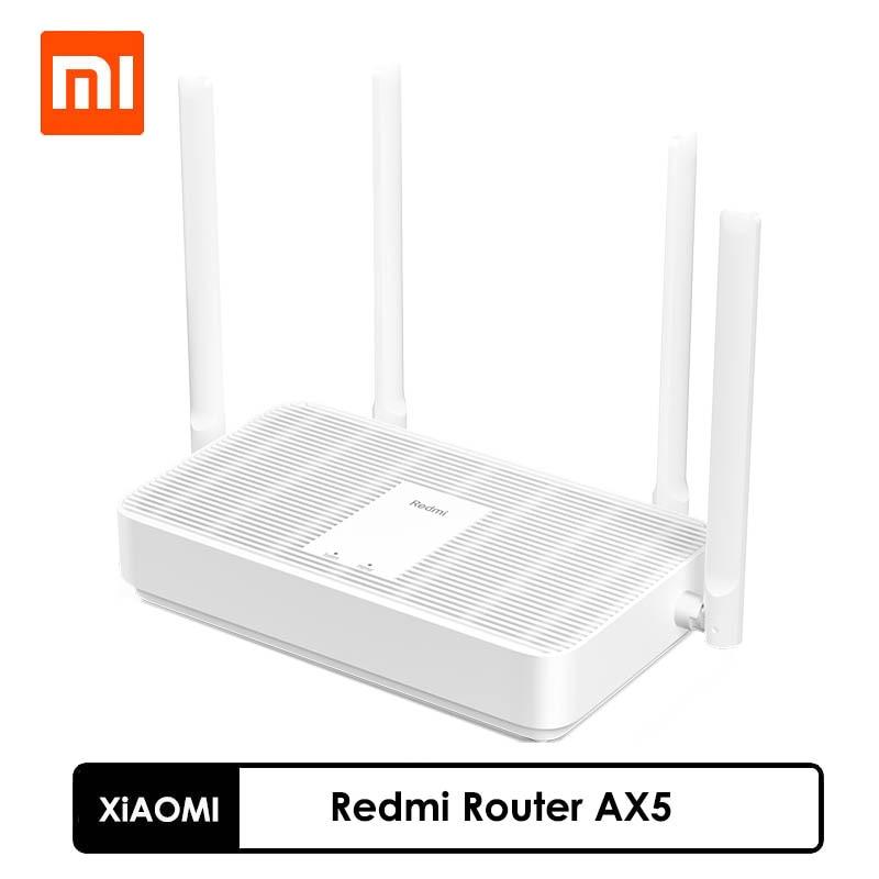 Новинка 2021, беспроводной маршрутизатор Xiaomi Redmi AX5, двойной сетчатый ретранслятор Wi-Fi 6, сетевой Ретранслятор с 4 антеннами с высоким коэффицие...