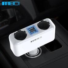 Adaptador de cargador de coche con enchufe de encendedor de coche MEIDI con cargador de teléfono de coche de carga automática USB Dual