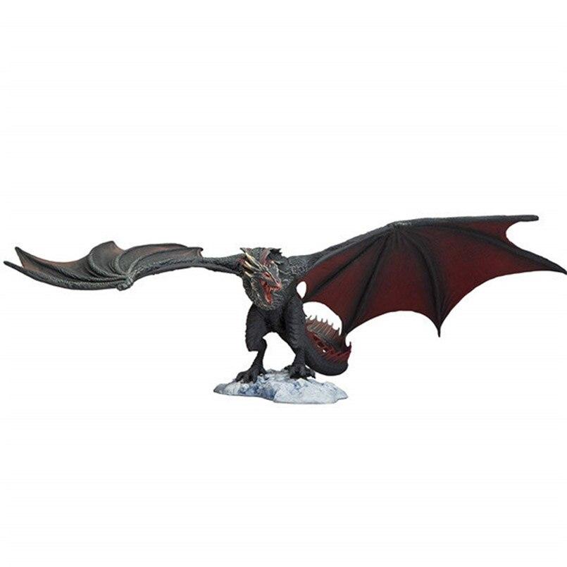 14 см Игра престолов, фигурка Viserion Ice Dragon fire Drogon, ПВХ, фигурка, Коллекционная модель, игрушки для детей, подарок