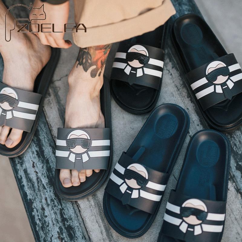 Summer Flip Flops Fashion Beach Slides Men's Slippers Men Indoor Home Outdoor Slip Household Sandals Men Slippers